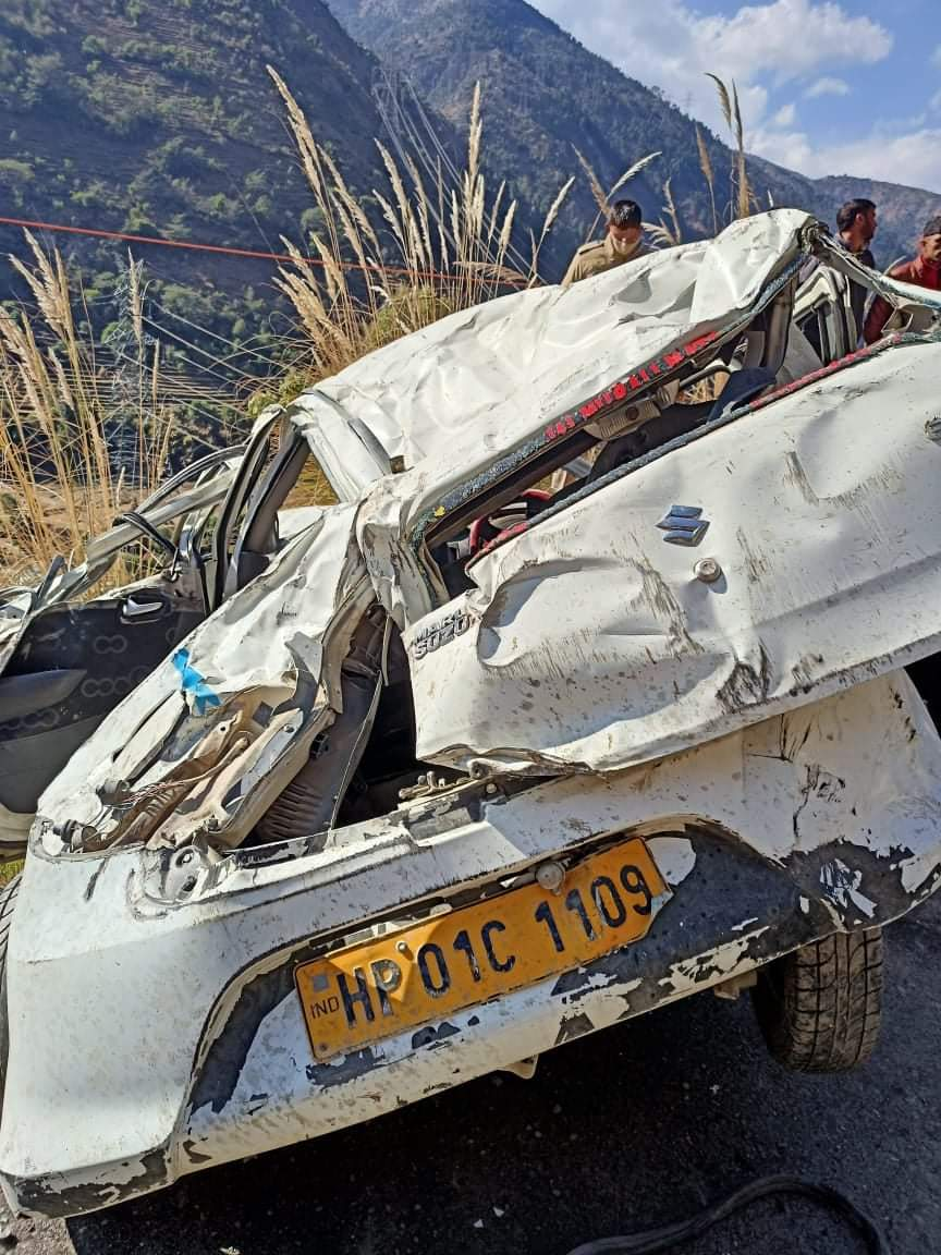 चम्बा में कार गिरी माँ-बेटी की मौत,2 अन्य घायल,गाड़ी के परखचे उड़े