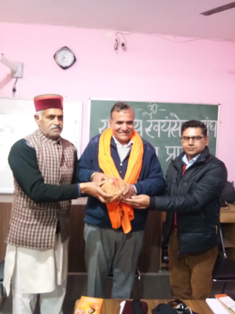 प्रो. वीर सिंह रांगड़ा आरएसएस  के प्रांत संघचालक के लिए पुनः निर्वाचन,अगले तीन साल तक करेंगे दायित्व का निर्वाहन