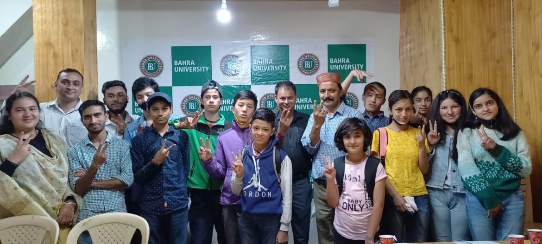 बाहरा विश्वविद्यालय ने रोहडू  में स्पॉट काउंसलिंग व एडमिशन सत्र का आयोजन किया